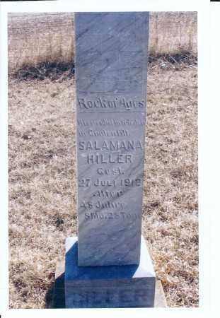 HILLER, SALAMANA - McIntosh County, North Dakota   SALAMANA HILLER - North Dakota Gravestone Photos