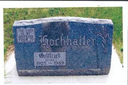 "HOCHHALTER, GOTTFRIED, ""DUKE"" - McIntosh County, North Dakota   GOTTFRIED, ""DUKE"" HOCHHALTER - North Dakota Gravestone Photos"