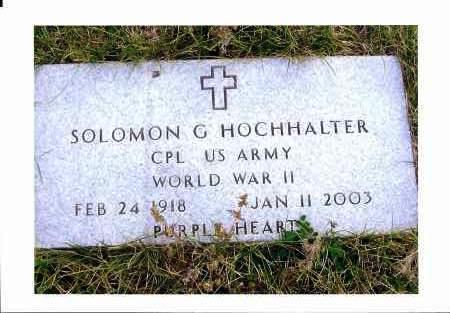 HOCHHALTER, SOLOMON G. - McIntosh County, North Dakota | SOLOMON G. HOCHHALTER - North Dakota Gravestone Photos