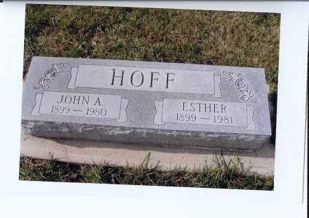 HOFF, JOHN A. - McIntosh County, North Dakota | JOHN A. HOFF - North Dakota Gravestone Photos
