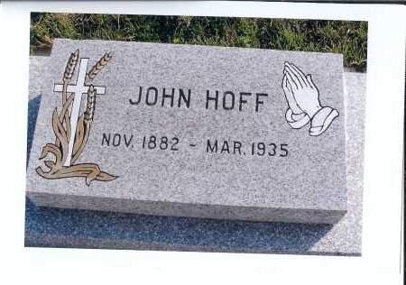 HOFF, JOHN - McIntosh County, North Dakota   JOHN HOFF - North Dakota Gravestone Photos