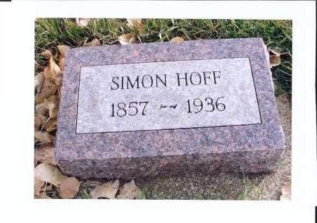 HOFF, SIMON - McIntosh County, North Dakota   SIMON HOFF - North Dakota Gravestone Photos