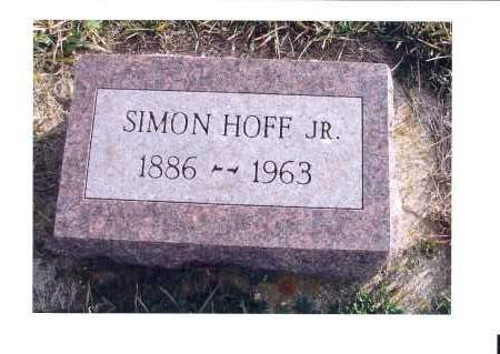 HOFF, SIMON JR. - McIntosh County, North Dakota | SIMON JR. HOFF - North Dakota Gravestone Photos