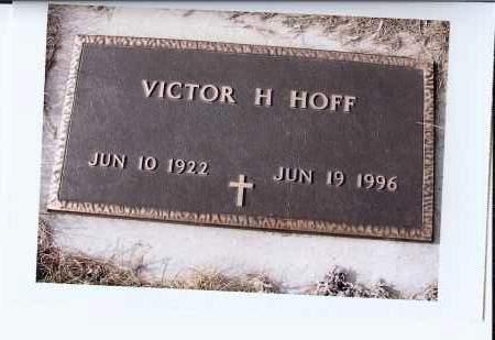 HOFF,, VICTOR H. - McIntosh County, North Dakota   VICTOR H. HOFF, - North Dakota Gravestone Photos