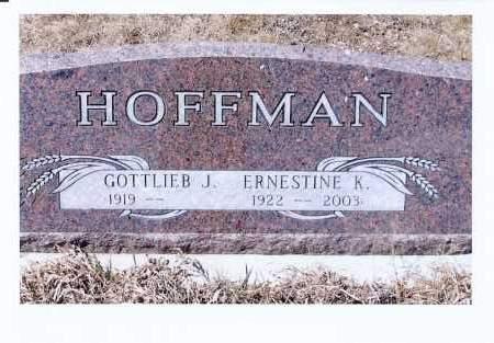 HOFFMAN, ERNESTINE K. - McIntosh County, North Dakota | ERNESTINE K. HOFFMAN - North Dakota Gravestone Photos