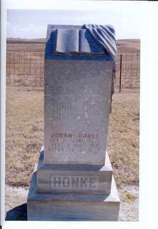 HONKE, JOHAN - McIntosh County, North Dakota | JOHAN HONKE - North Dakota Gravestone Photos