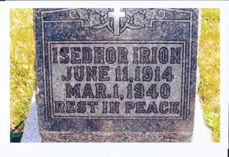 IRION, ISEDHOR - McIntosh County, North Dakota | ISEDHOR IRION - North Dakota Gravestone Photos