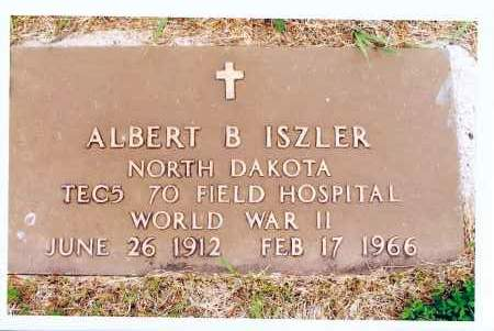 ISZLER, ALBERT B. - McIntosh County, North Dakota | ALBERT B. ISZLER - North Dakota Gravestone Photos