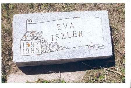 ISZLER, EVA - McIntosh County, North Dakota   EVA ISZLER - North Dakota Gravestone Photos