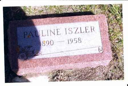 ISZLER, PAULINE - McIntosh County, North Dakota | PAULINE ISZLER - North Dakota Gravestone Photos
