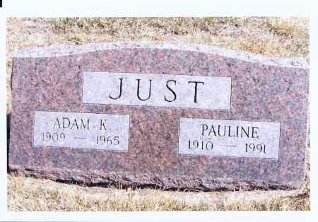 JUST, PAULINE - McIntosh County, North Dakota | PAULINE JUST - North Dakota Gravestone Photos