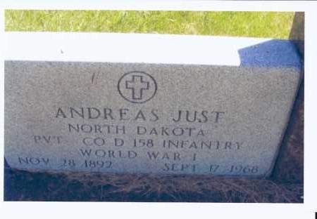 JUST, ANDREAS - McIntosh County, North Dakota | ANDREAS JUST - North Dakota Gravestone Photos
