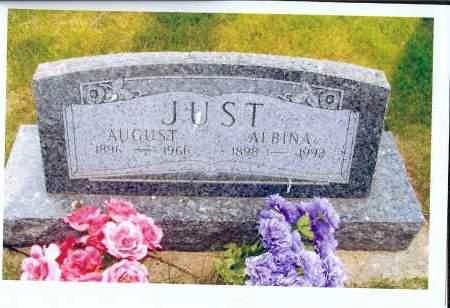 JUST, AUGUST - McIntosh County, North Dakota | AUGUST JUST - North Dakota Gravestone Photos