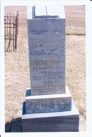JUST, CHRISTINA - McIntosh County, North Dakota | CHRISTINA JUST - North Dakota Gravestone Photos