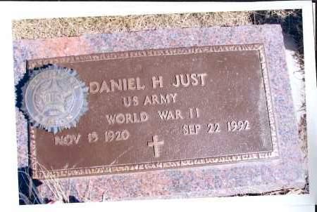 JUST, DANIEL H. - McIntosh County, North Dakota | DANIEL H. JUST - North Dakota Gravestone Photos
