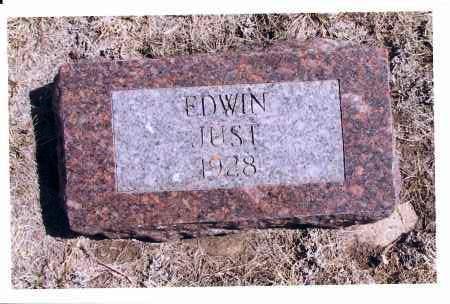 JUST, EDWIN - McIntosh County, North Dakota | EDWIN JUST - North Dakota Gravestone Photos