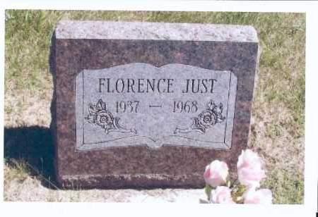 JUST, FLORENCE - McIntosh County, North Dakota   FLORENCE JUST - North Dakota Gravestone Photos