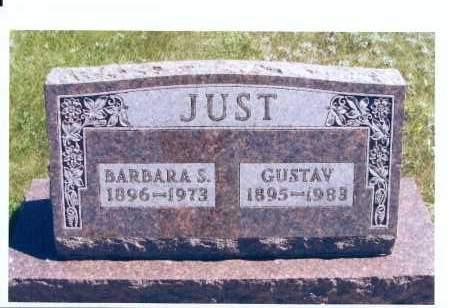 JUST, BARBARA S. - McIntosh County, North Dakota | BARBARA S. JUST - North Dakota Gravestone Photos