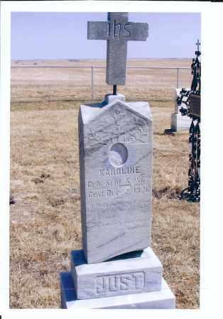 JUST, KAROLINE - McIntosh County, North Dakota | KAROLINE JUST - North Dakota Gravestone Photos