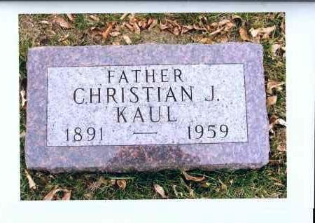 KAUL, CHRISTIAN J. - McIntosh County, North Dakota | CHRISTIAN J. KAUL - North Dakota Gravestone Photos