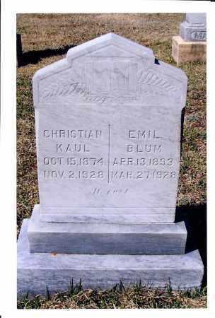 KAUL, CHRISTIAN - McIntosh County, North Dakota | CHRISTIAN KAUL - North Dakota Gravestone Photos