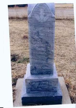 KAUL, JACOB - McIntosh County, North Dakota | JACOB KAUL - North Dakota Gravestone Photos