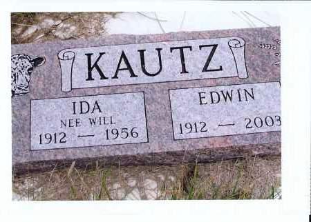 WILL KAUTZ, IDA - McIntosh County, North Dakota | IDA WILL KAUTZ - North Dakota Gravestone Photos