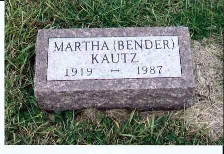 BENDER KAUTZ, MARTHA - McIntosh County, North Dakota | MARTHA BENDER KAUTZ - North Dakota Gravestone Photos