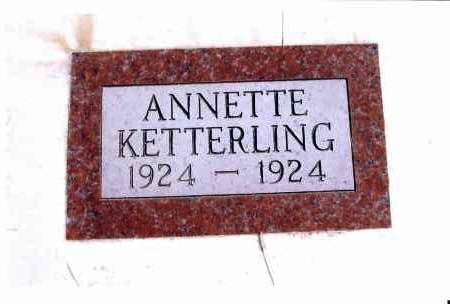 KETTERLING, ANNETTE - McIntosh County, North Dakota | ANNETTE KETTERLING - North Dakota Gravestone Photos