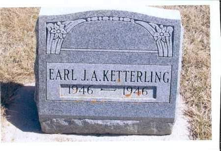 KETTERLING, EARL J. A. - McIntosh County, North Dakota | EARL J. A. KETTERLING - North Dakota Gravestone Photos
