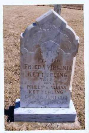 KETTERLING, FRIEDA VIRGINIA - McIntosh County, North Dakota | FRIEDA VIRGINIA KETTERLING - North Dakota Gravestone Photos