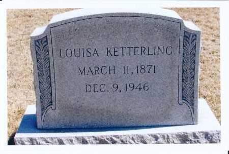 KETTERLING, LOUISA - McIntosh County, North Dakota | LOUISA KETTERLING - North Dakota Gravestone Photos