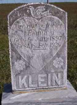 KLEIN, EMMA - McIntosh County, North Dakota | EMMA KLEIN - North Dakota Gravestone Photos