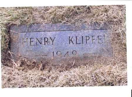KLIPFEL, HENRY - McIntosh County, North Dakota | HENRY KLIPFEL - North Dakota Gravestone Photos