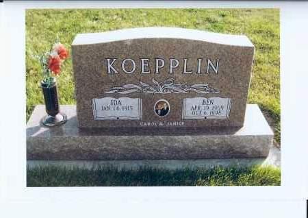 KOEPPLIN, BEN - McIntosh County, North Dakota   BEN KOEPPLIN - North Dakota Gravestone Photos