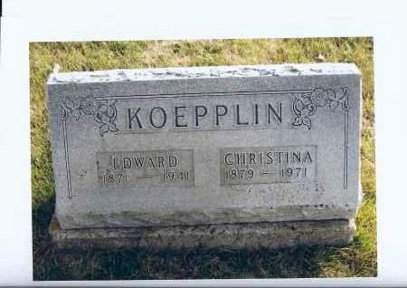 KOEPPLIN, EDWARD - McIntosh County, North Dakota | EDWARD KOEPPLIN - North Dakota Gravestone Photos