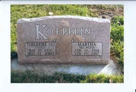"KOEPPLIN, THEODORE ""TED"" - McIntosh County, North Dakota   THEODORE ""TED"" KOEPPLIN - North Dakota Gravestone Photos"