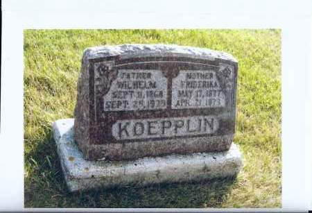 KOEPPLIN, FRIDERIKA - McIntosh County, North Dakota | FRIDERIKA KOEPPLIN - North Dakota Gravestone Photos