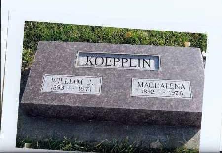 KOEPPLIN, WILLIAM J. - McIntosh County, North Dakota | WILLIAM J. KOEPPLIN - North Dakota Gravestone Photos