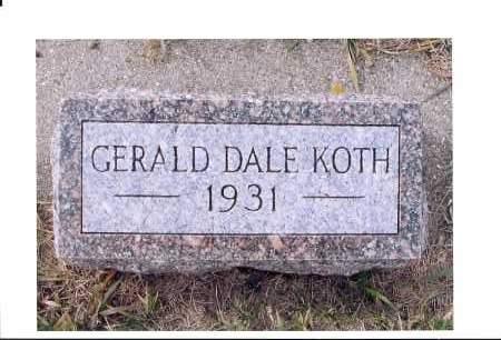 KOTH, GERALD DALE - McIntosh County, North Dakota   GERALD DALE KOTH - North Dakota Gravestone Photos