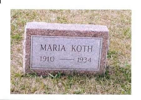 KOTH, MARIA - McIntosh County, North Dakota | MARIA KOTH - North Dakota Gravestone Photos