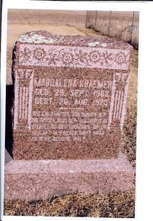 KRAEMER, MAGDALENA - McIntosh County, North Dakota   MAGDALENA KRAEMER - North Dakota Gravestone Photos