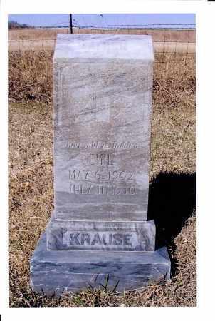 KRAUSE, EMIL - McIntosh County, North Dakota | EMIL KRAUSE - North Dakota Gravestone Photos