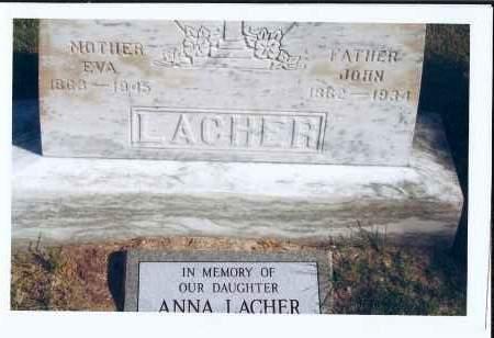 LACHER, EVA - McIntosh County, North Dakota | EVA LACHER - North Dakota Gravestone Photos
