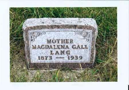 GALL LANG, MAGDALENA - McIntosh County, North Dakota | MAGDALENA GALL LANG - North Dakota Gravestone Photos