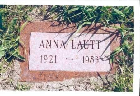 LAUTT, ANNA - McIntosh County, North Dakota | ANNA LAUTT - North Dakota Gravestone Photos