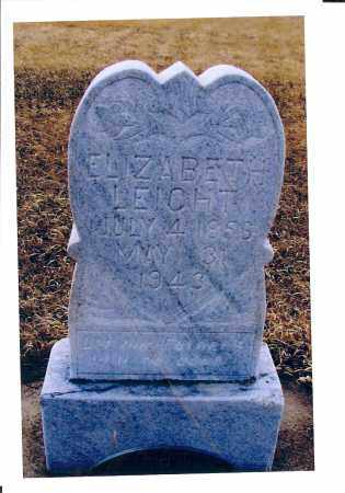LEICHT, ELIZABETH - McIntosh County, North Dakota | ELIZABETH LEICHT - North Dakota Gravestone Photos