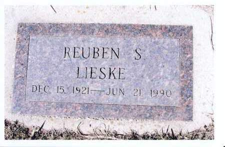 LIESKE, REUBEN S. - McIntosh County, North Dakota | REUBEN S. LIESKE - North Dakota Gravestone Photos