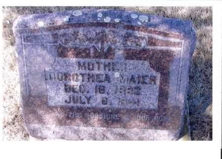 MORITZ MAIER, DOROTHEA - McIntosh County, North Dakota | DOROTHEA MORITZ MAIER - North Dakota Gravestone Photos