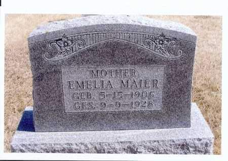 MAIER, EMELIA - McIntosh County, North Dakota | EMELIA MAIER - North Dakota Gravestone Photos